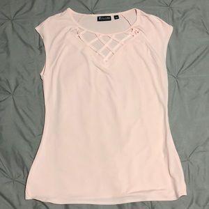 Soft pink work casual top